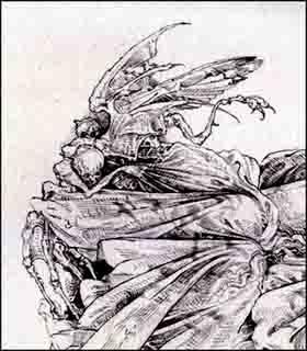 Fariñas. Demonios, acuarela. 2013