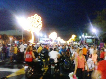 Árboles de luz en la avenida De Bolívar a Chávez