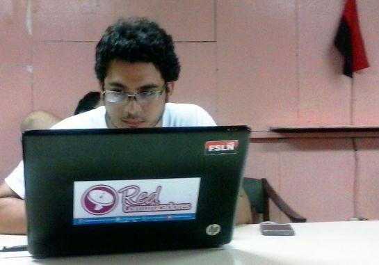 Miguel, de la Red de comunicadores de la Juventud sandinista