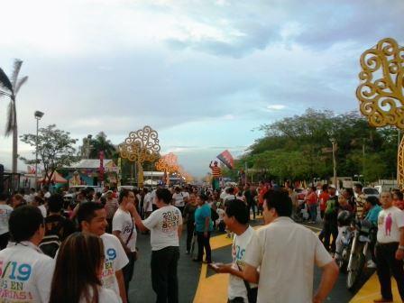 Fiesta del día de la alegría por los 35 años de la Revolución sandinista