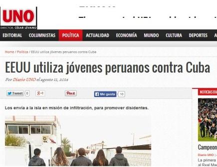 Texto de Raúl Wiener en Diario uno, de Perú.