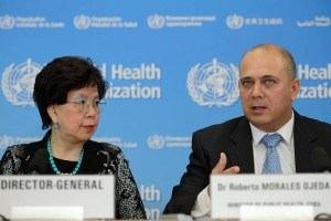 El Ministro de salud de Cuba junto a la directora de la OMS