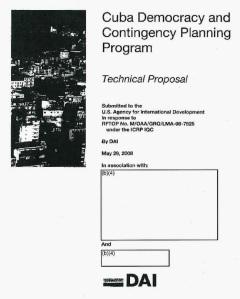 Uno de los documentos entregados por USAID a Eaton, muy censurado.