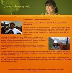 """Sitio de """"Progreso internacional"""""""