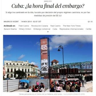 """""""Varias personas en el Centro de La Habana, este lunes. """", según El País."""