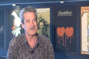 Fernando Pérez entrevistado para La pupila asombrada en la sede del ICAIC