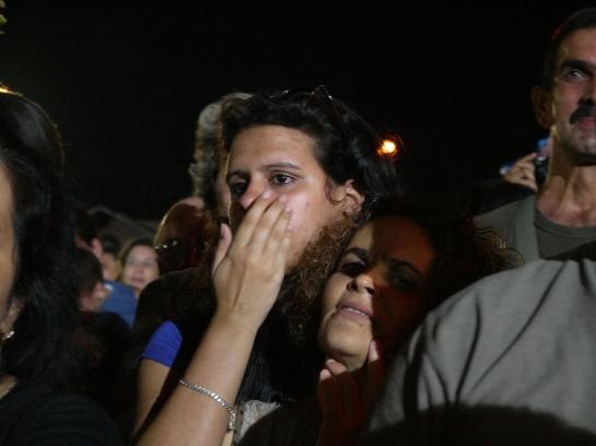 Muchas veces brotaron lágrimas de emoción entre los asistentes.