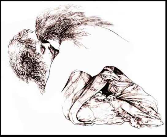Fariñas, Diablo Ilustrado IV, acuarela.