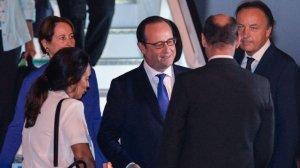 Hollande a su llegada a Cuba