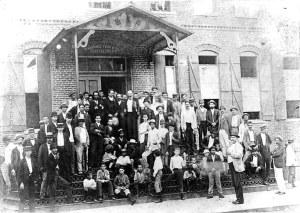 Martí con los cubanos de Cayo Hueso
