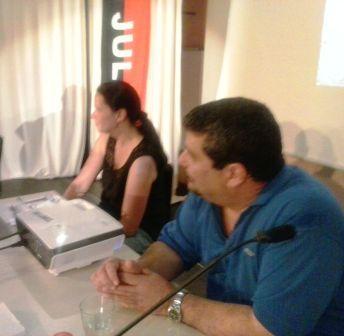 Junto a Anke, coordinara de Cuba sí en  Braunschweig