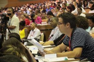 Elier Ramírez interviene en el X Congreso de la UJC.