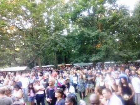 Parte del público en la Fiesta de la solidaridad de Cuba sí