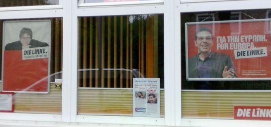 Promoción en el local del Partido  Die Linke en Lujtenburg