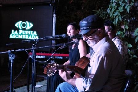 Rochy junto a Augusto Blanca y Pepe Ordaz