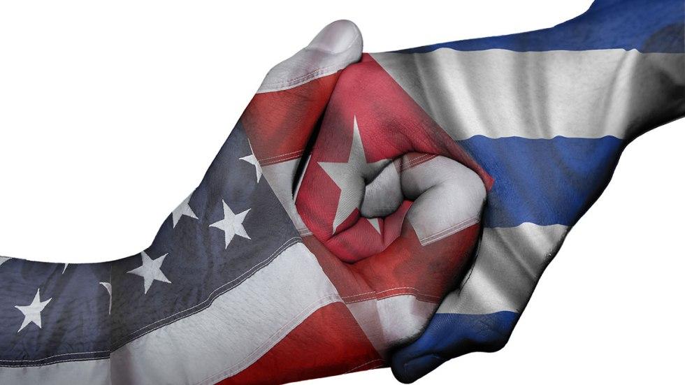 Resultado de imagen para bandera de Cuba y EEUU