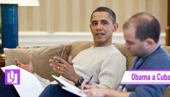 Ben Rhodes junto a Barack Obama