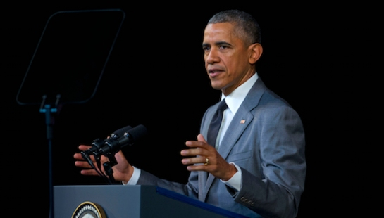 President Barack Obama speaks at El Gran Teatro de Havana, Tuesday, March 22, 2016, in Havana, Cuba. (AP Photo/Pablo Martinez Monsivais)