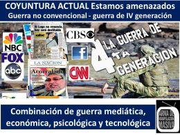 """""""La guerra no convencional"""", la más convencional de las guerras. Por Hugo MoralesKarell"""