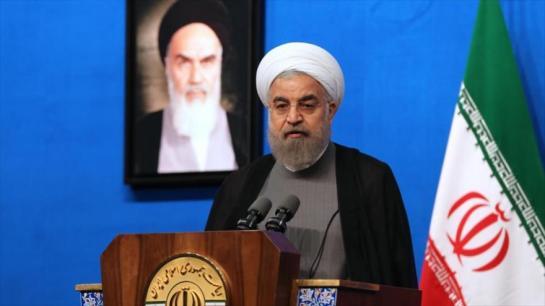 """Presidente iraní Hasan Rohani: La decisión judicial adoptada en Washington es un """"robo descarado""""."""
