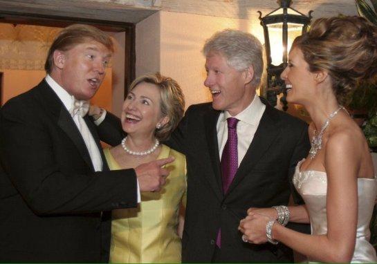 Las dos parejas que se disputan la presidencia de Estados Unidos.