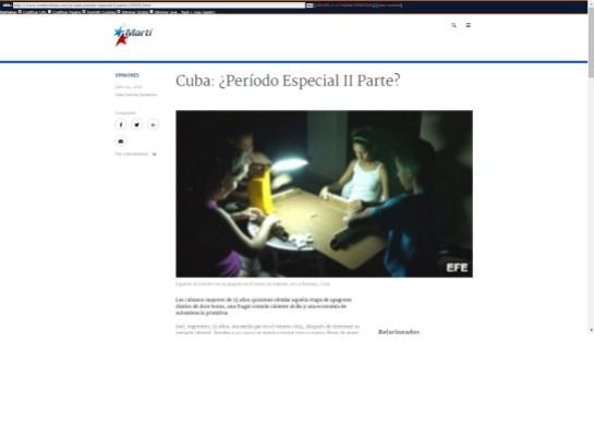 """La emisora oficial del gobierno de EEUU vs Cuba habla de un """"Período Espacial II"""""""