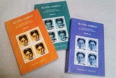 El útil anhelo, epistolario de Rubén Martínez Villena, publicado por Ediciones La Memoria, del Centro Pablo