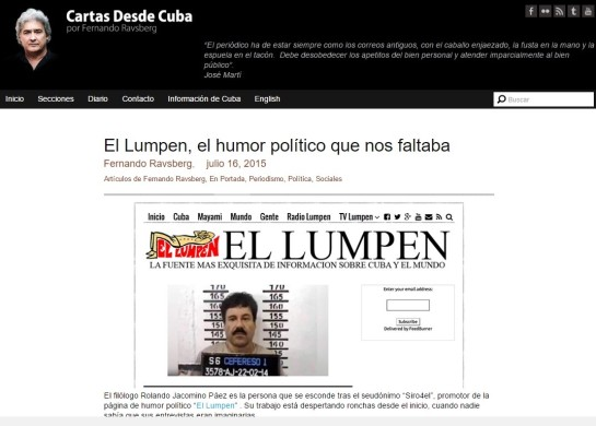 Entrevista promocional de Fernando Ravsberg a Lamelo Piñón asumiendo el nombre de Rolando Jacomino Páez.