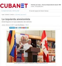 """Los """"izquierdistas"""" y los anexionistas de Cuba: """"¿Por qué no los nombró?"""". Por ArnoldAugust"""