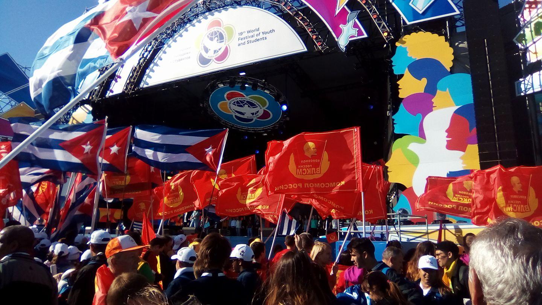 Con Cuba en el XIX Festival Mundial de la Juventud, en Sochi Rusia