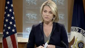 Heather Nauert, vocera del Departamento de Estado.