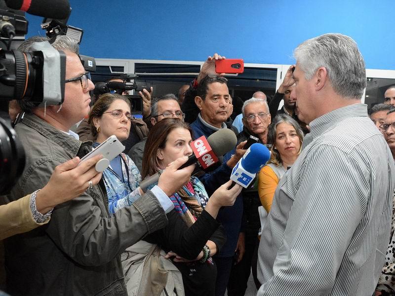 Los cambios en la economía cubana. Miguel Díaz-Canel responde a la agencia EFE.