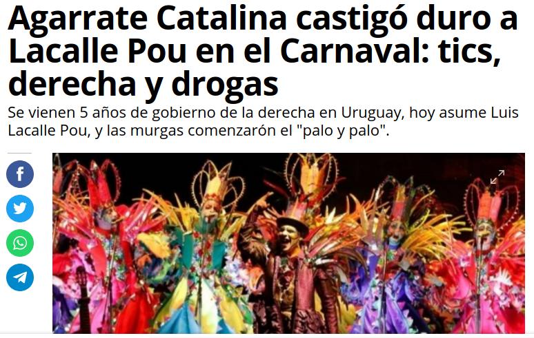 """""""Ay, qué duro está Lacalle!"""" (video) Por Agarrate Catalina"""
